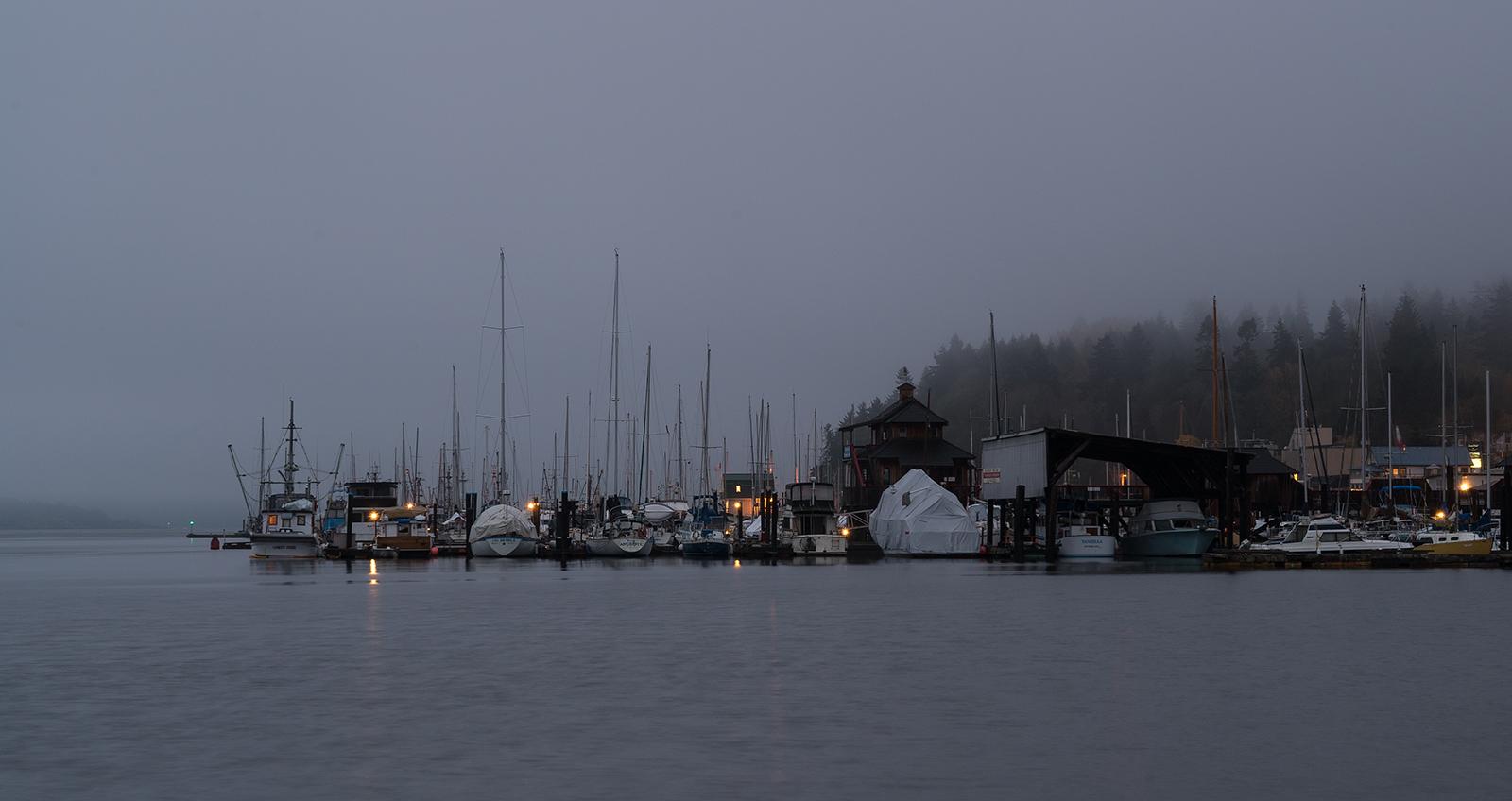 Gloomy Sunday Morning In Cowichan Bay