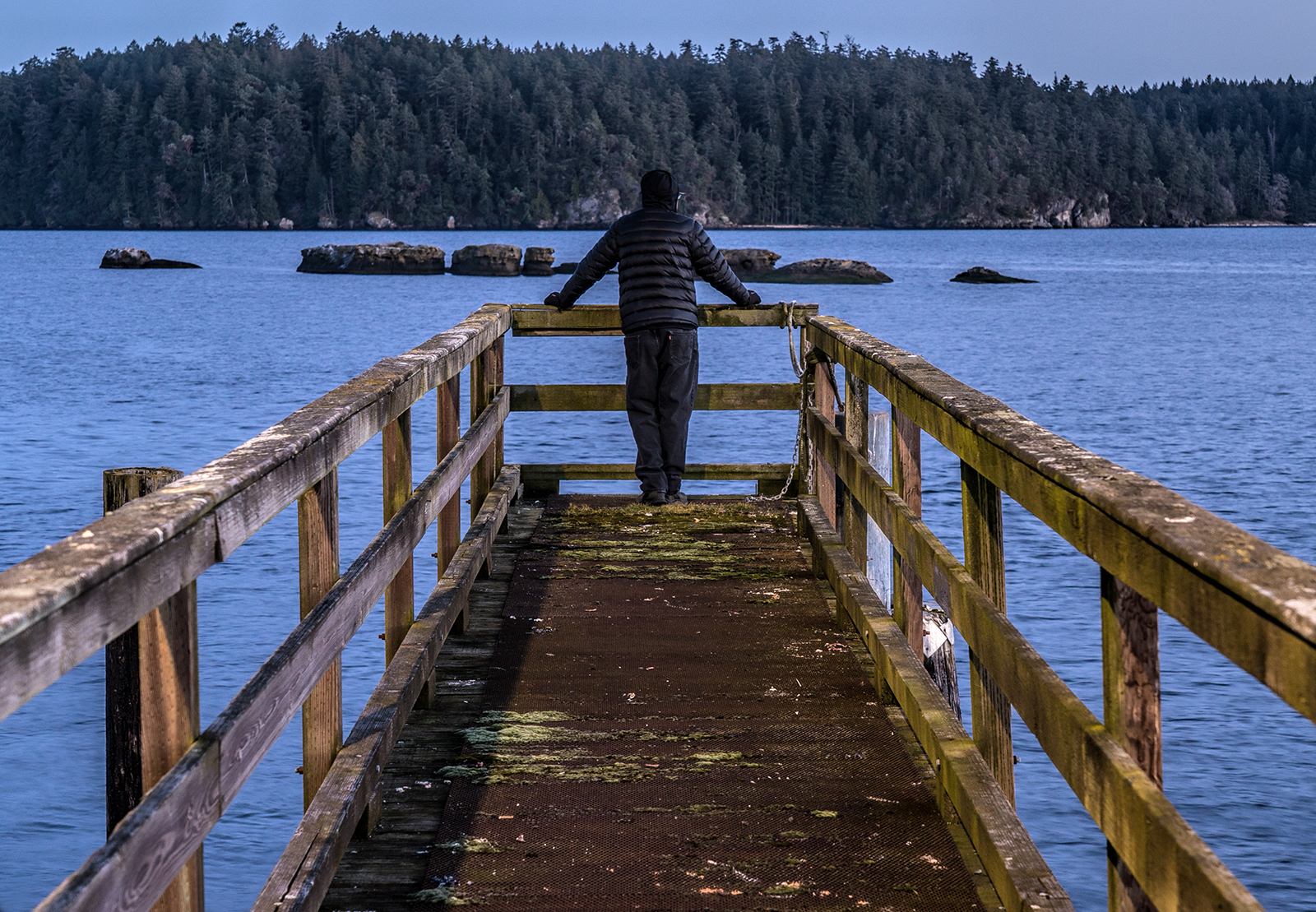 Walk out on a old dock while I'm there with my camera....you just became a dock model