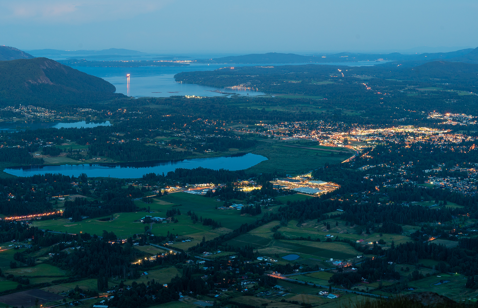 The Cowichan Valley at dusk