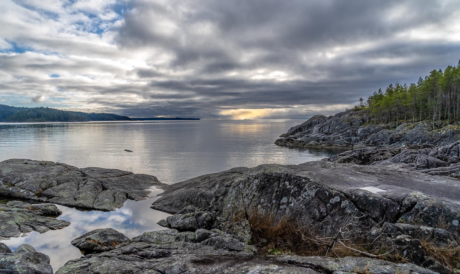 The view from Shellaligan Pass Trail on Quadra Island