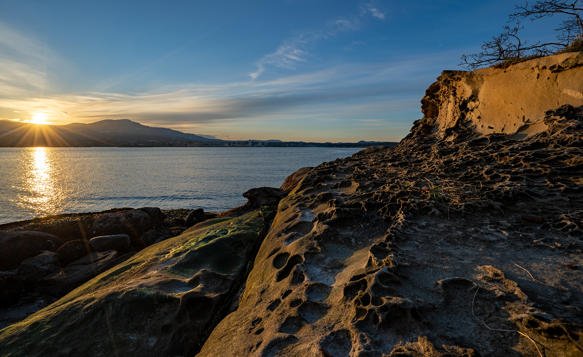 The Beautiful Sandstone At Biggs Park At Jack Point In Nanaimo