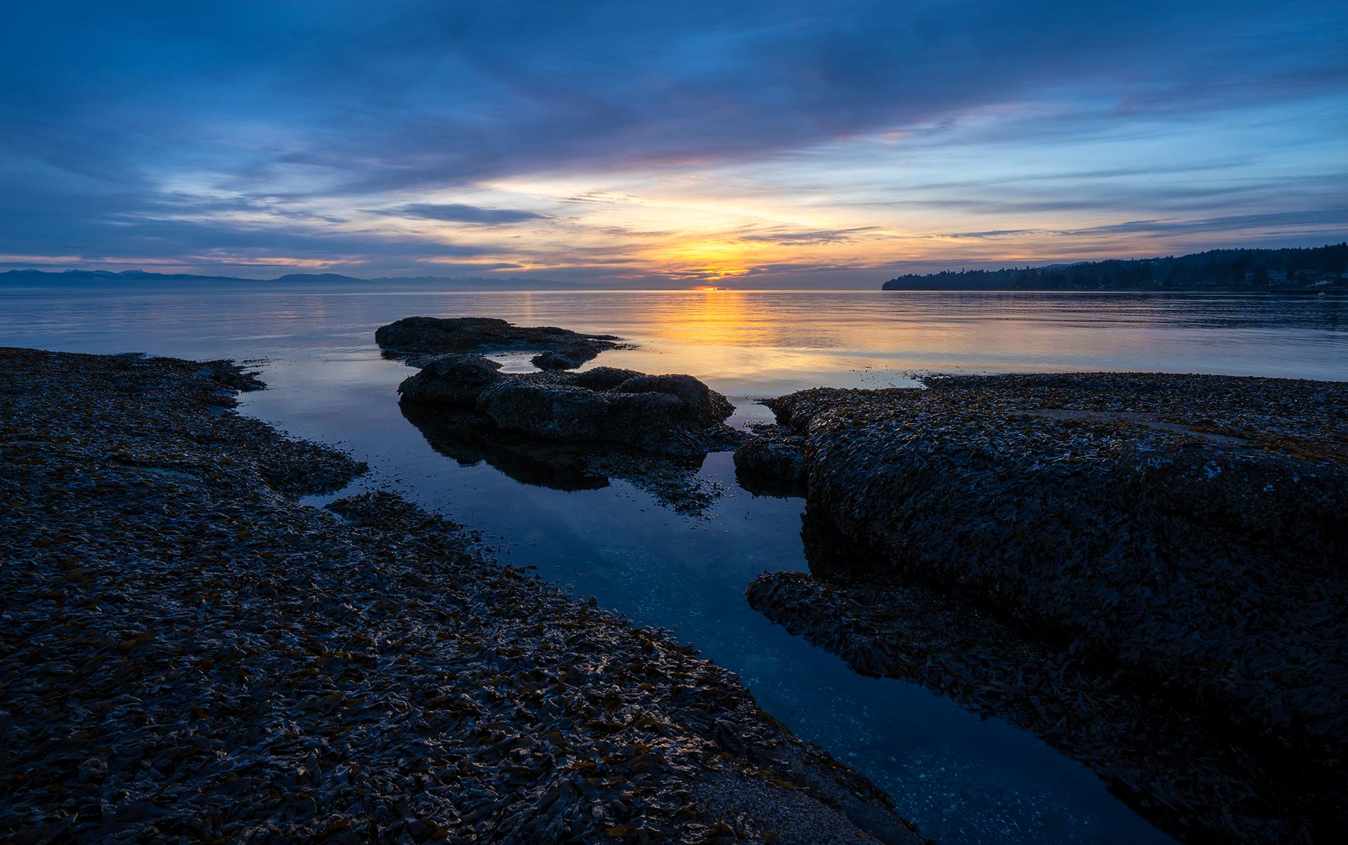 Pre-Sunrise At Sebastian Beach In Lantzville
