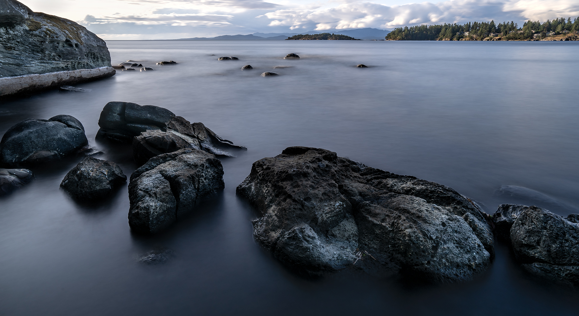 Long Exposure of Wall Beach in Nanoose Bay