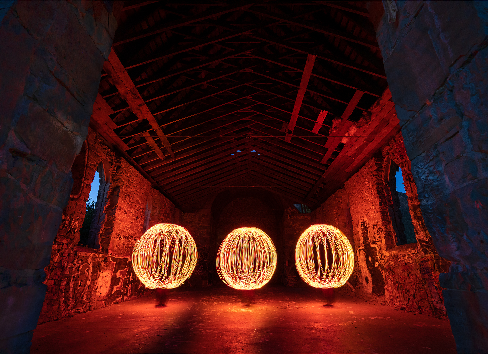 Spinning Orbs in the Butter Church