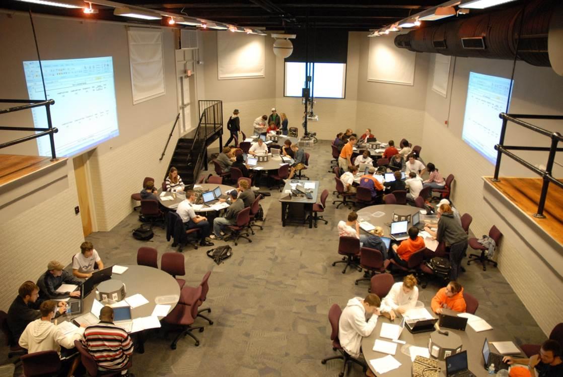 "Holtzendorff   Teaching With Technology Experimental Classroom, Clemson University, affectionately called ""the Sandbox"""