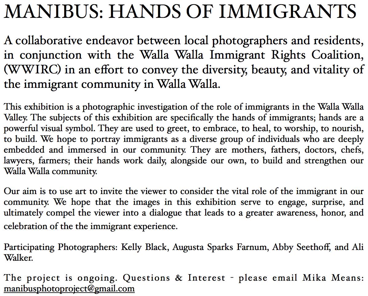 MANIBUS: HANDS OF IMMIGRANTS