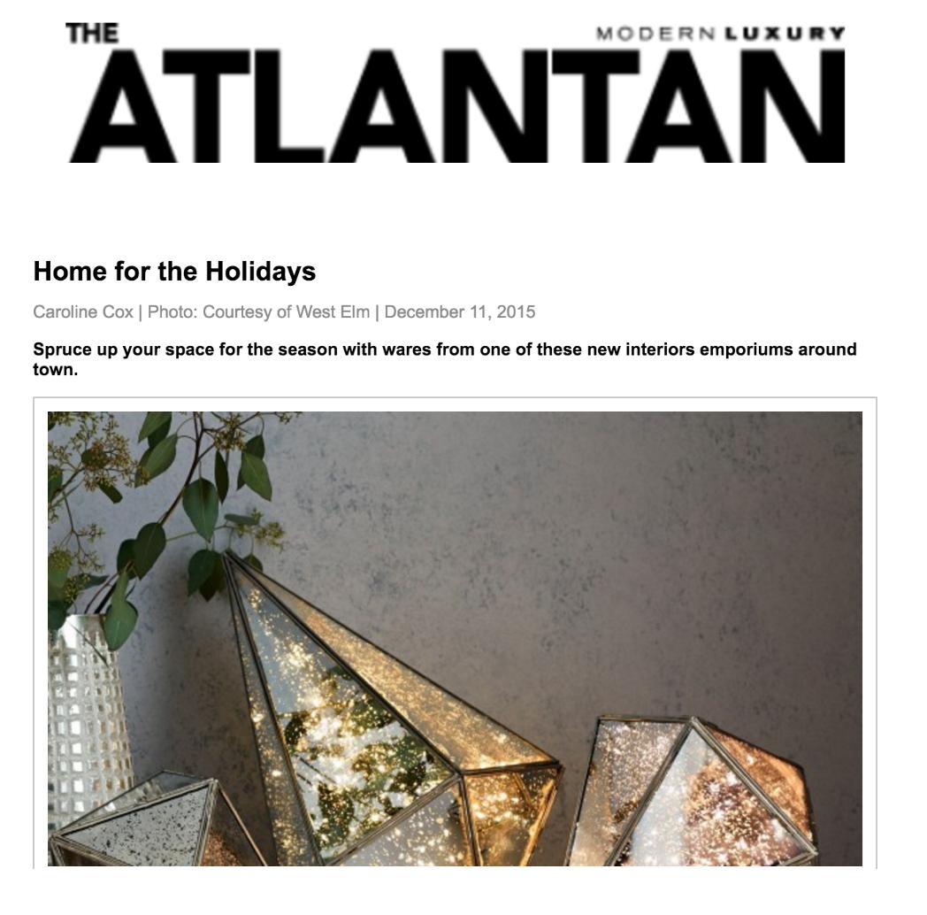 The Atlantan Magazine | December 11, 2015 | Editor: Caroline Cox
