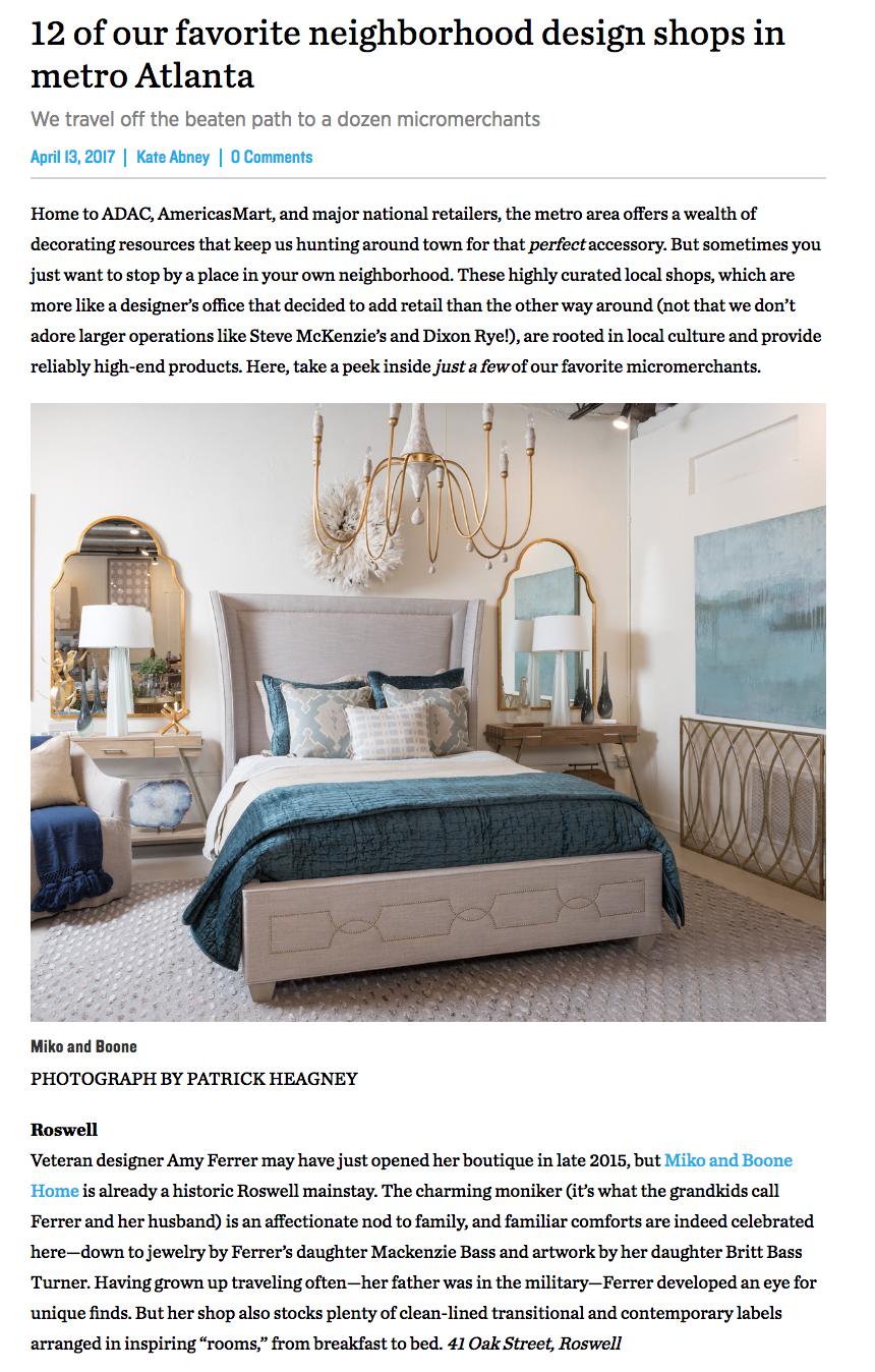 Atlanta Magazine Home | April 2017
