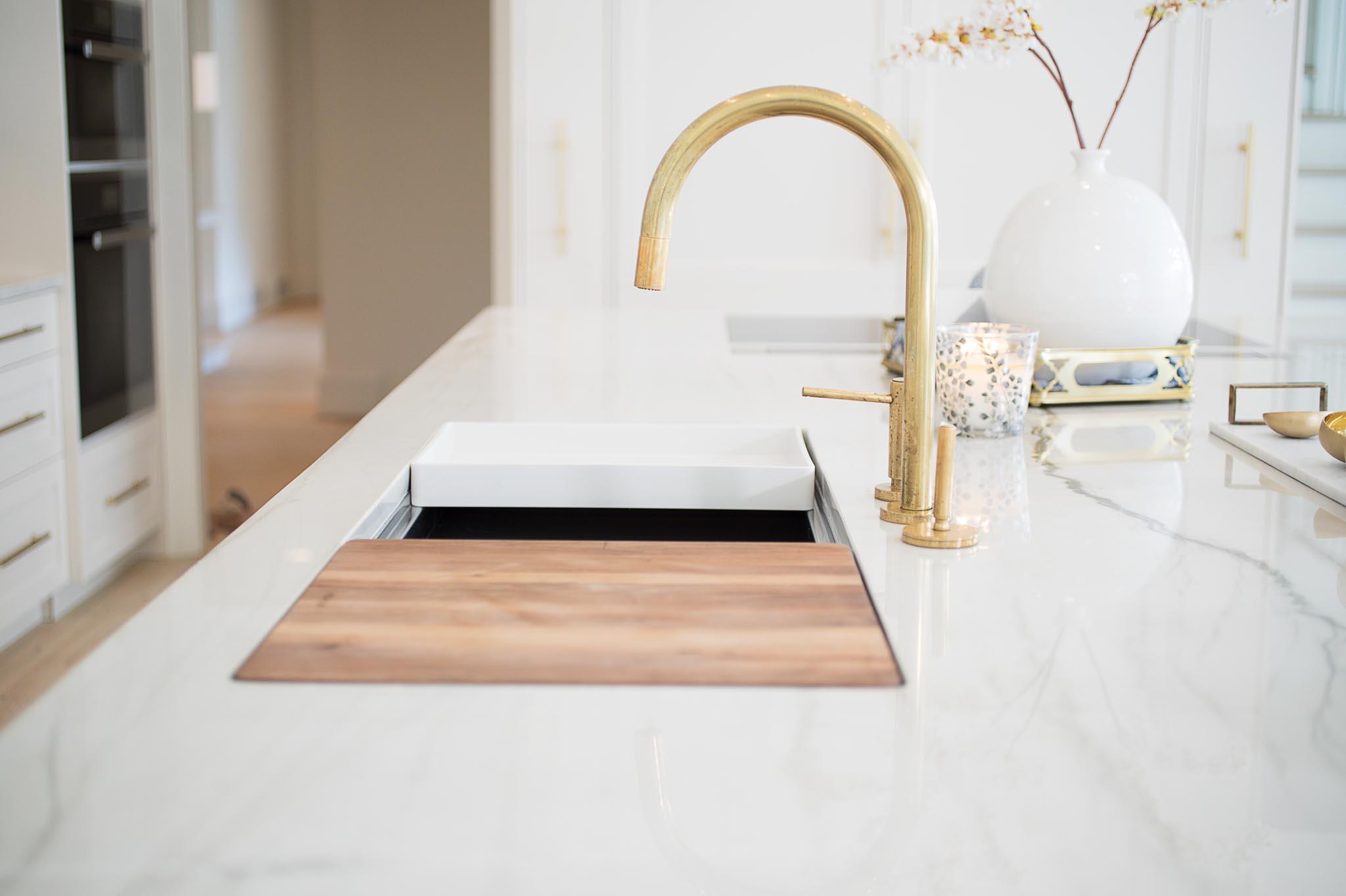 mikoandboonehome \ kitchen island \ kitchen faucet