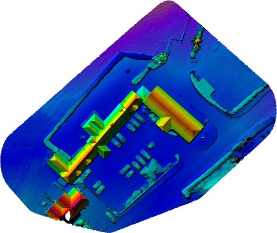 hampshire aerial survey 3d model