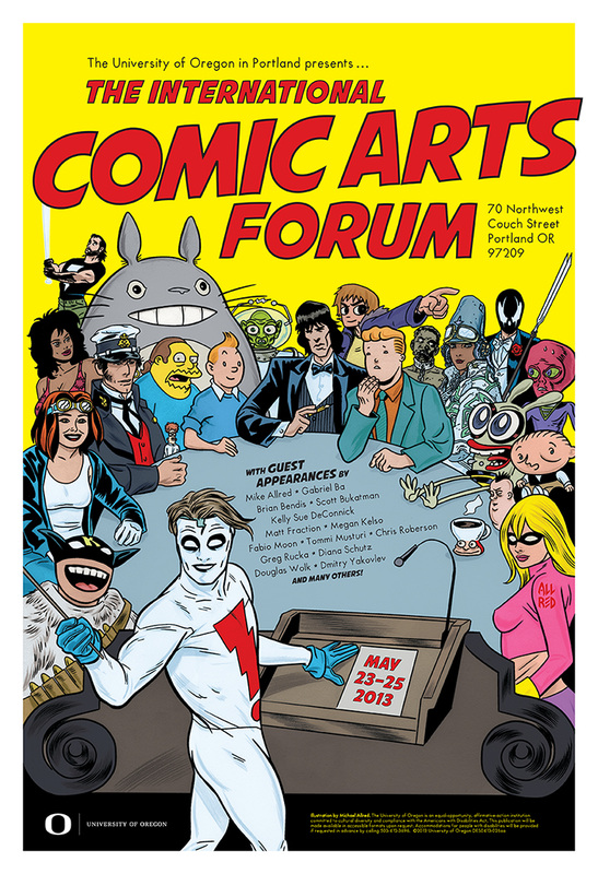ICAF 2013 poster by Mike Allred