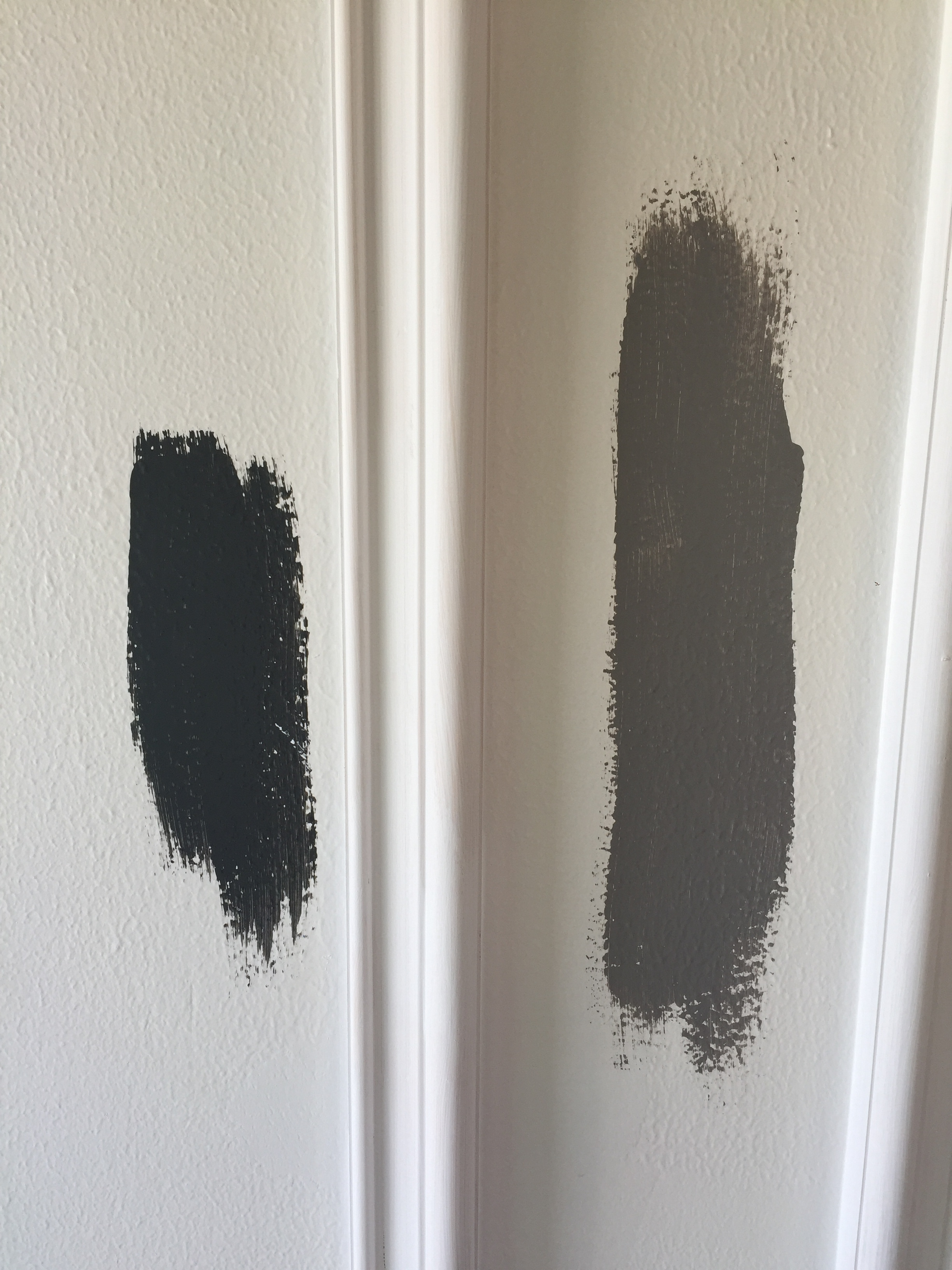 Choosing Paint is Difficult! Be sure to test colors at different times int he day to see how the Sun Light affects the Hue.