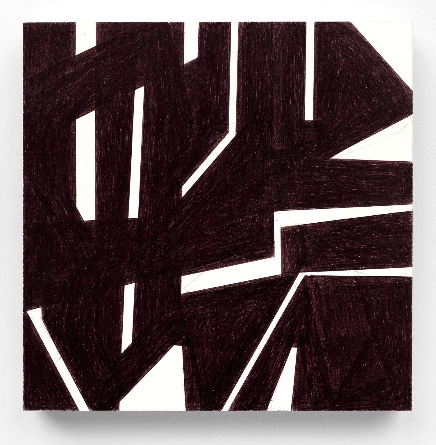 Untitled #22  2016, 6x6 in, ballpoint pen on clayboard