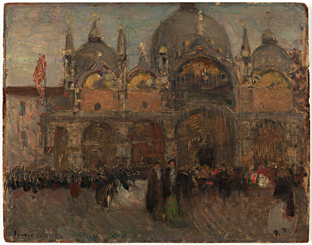 Venice , by Eugene Lawrence Vail (1857-1934), 8x10 in, oil paint on panel.