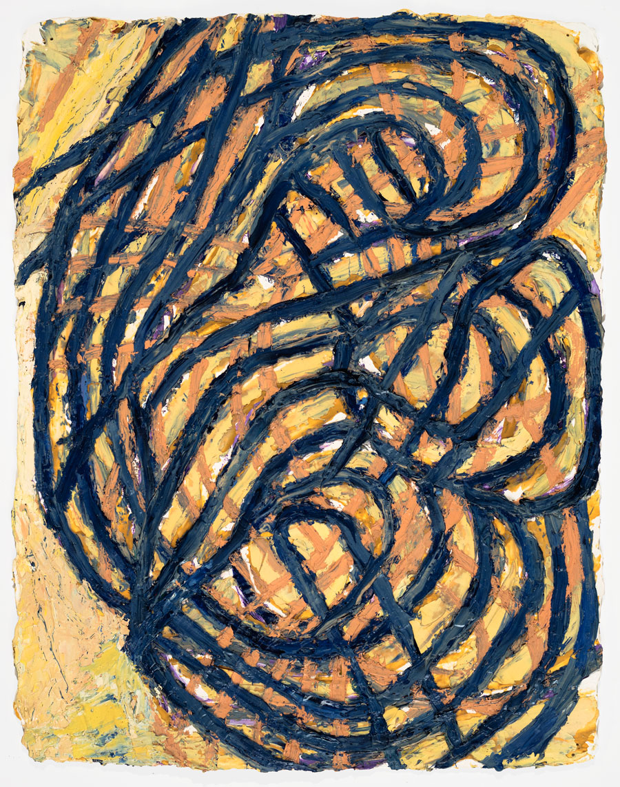 Untitled #23  2002, 13x10 in, oil paint on handmade paper