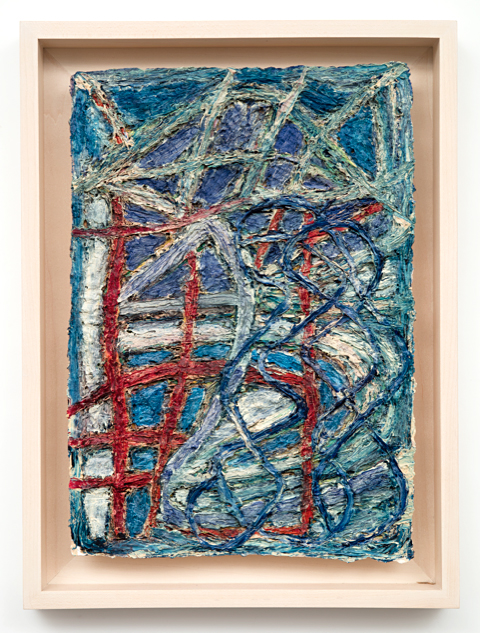 Untitled #19  2007, 21x15 in, with frame, oil on handmade paper