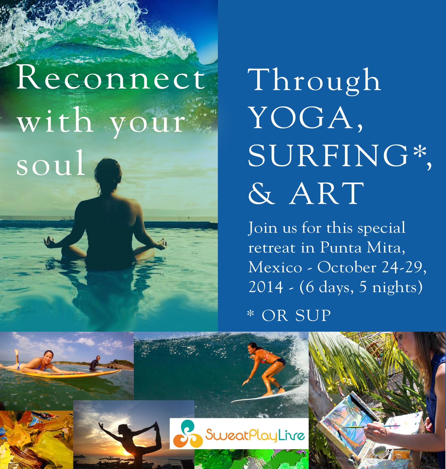 Mexico Surf, Art, Yoga Retreat