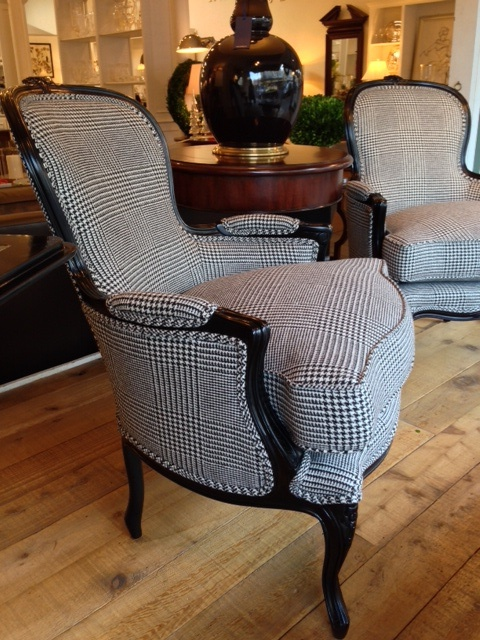 Ralph Lauren St. Germain Occasional Chairs with 100% Wool Wessex Glen Plaid fabric.