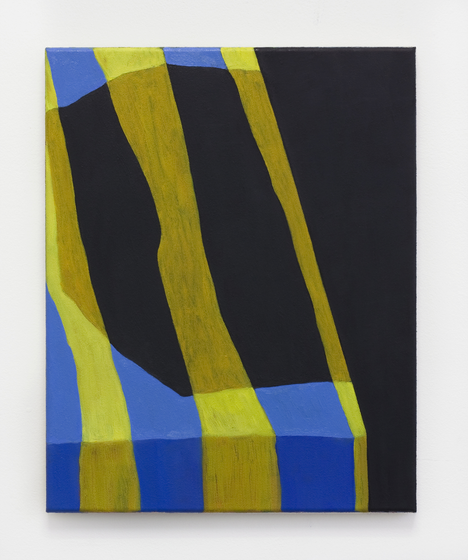 "Yellow Striped , 2017, oil on canvas, 20""x16"""
