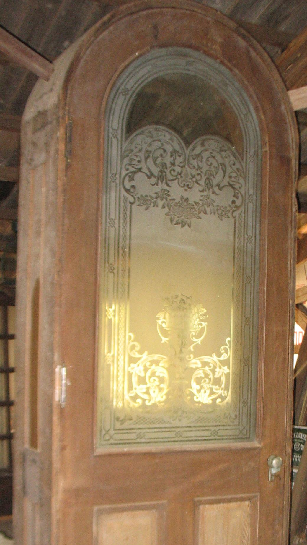 This is the interior view of the door from inside the house.