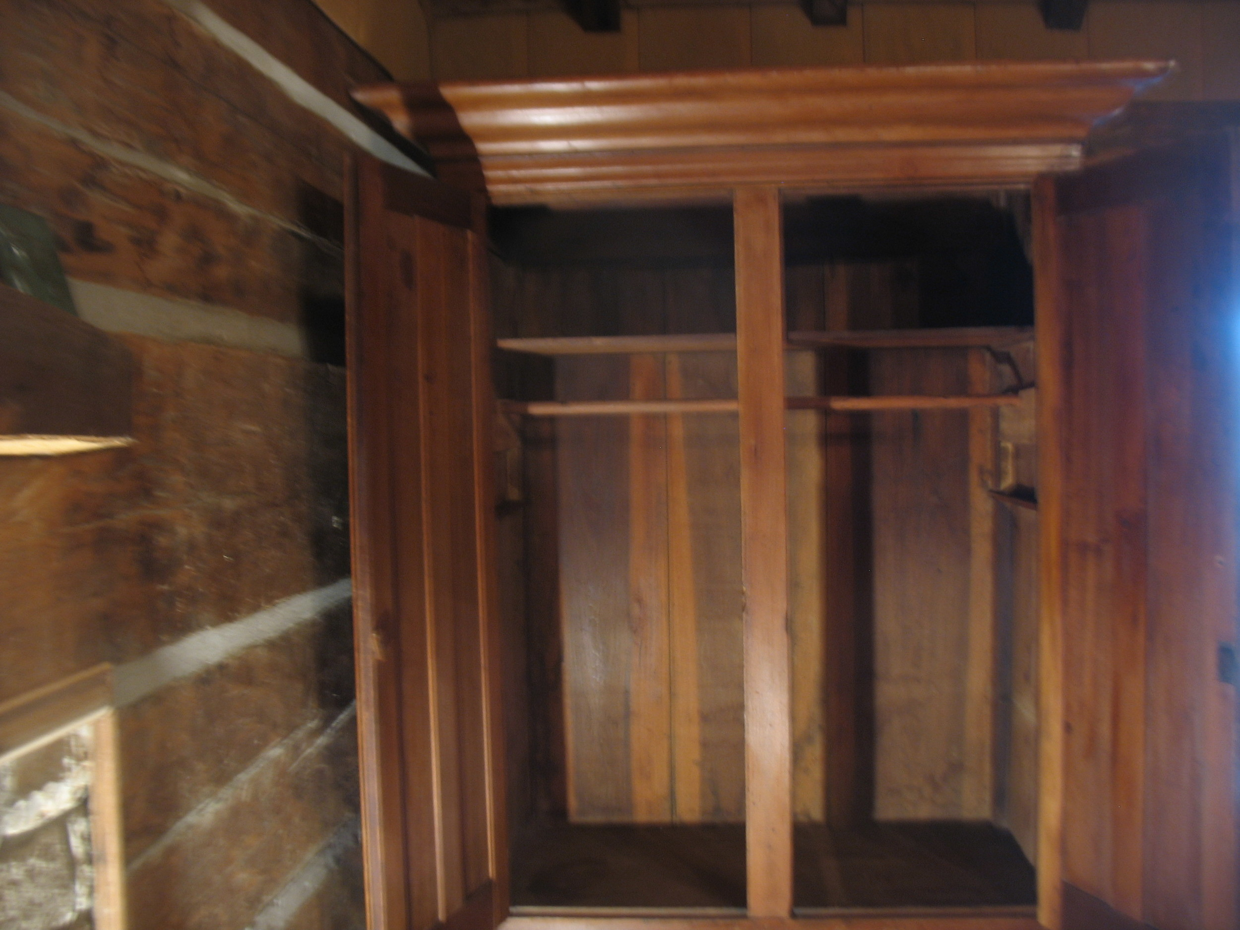 This shows the wardrobe from inside .