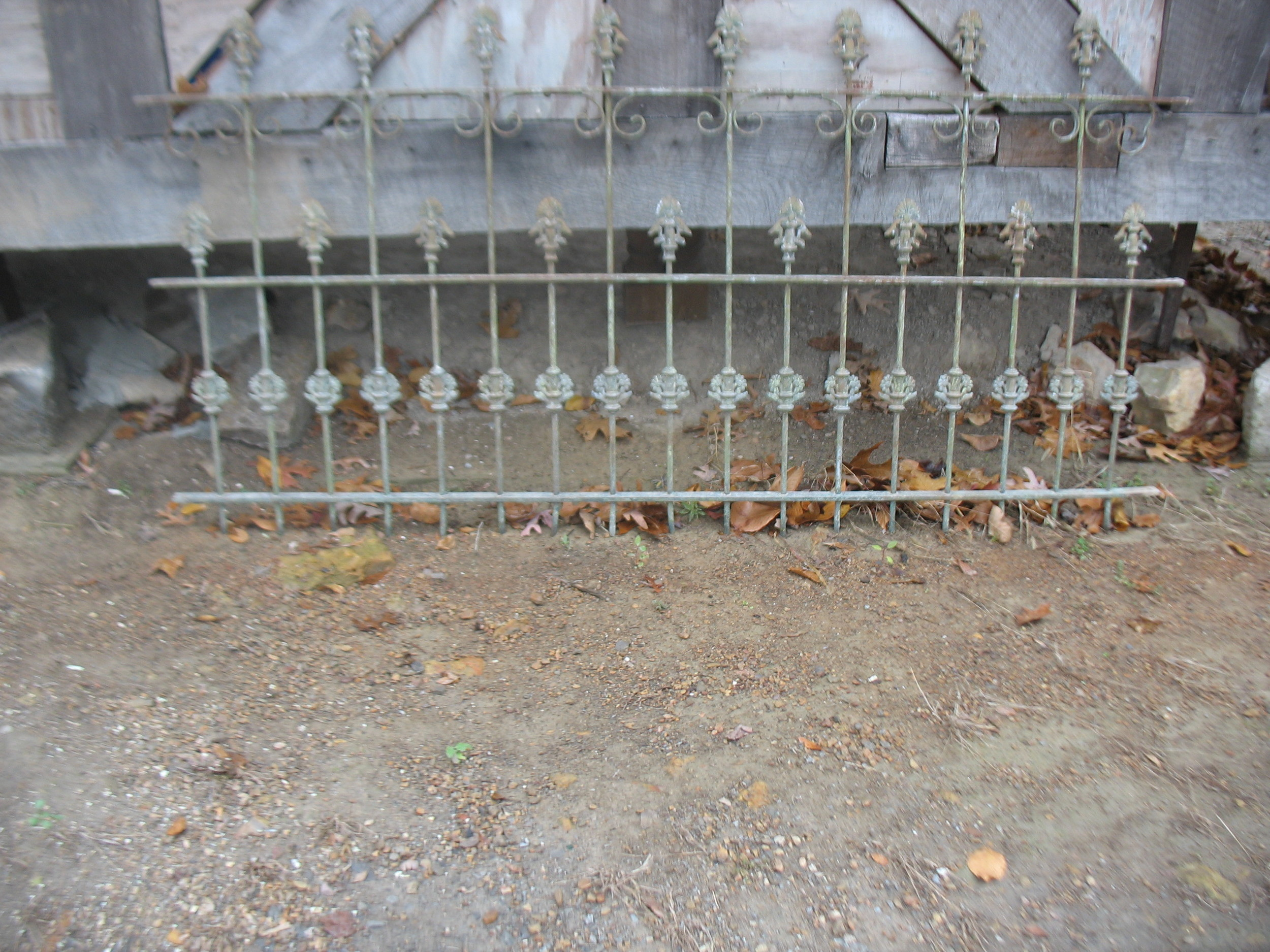Beautiful intricate designed iron gate, perfect for a garden. Measures 5 feet 4 inches long and 3 feet tall.