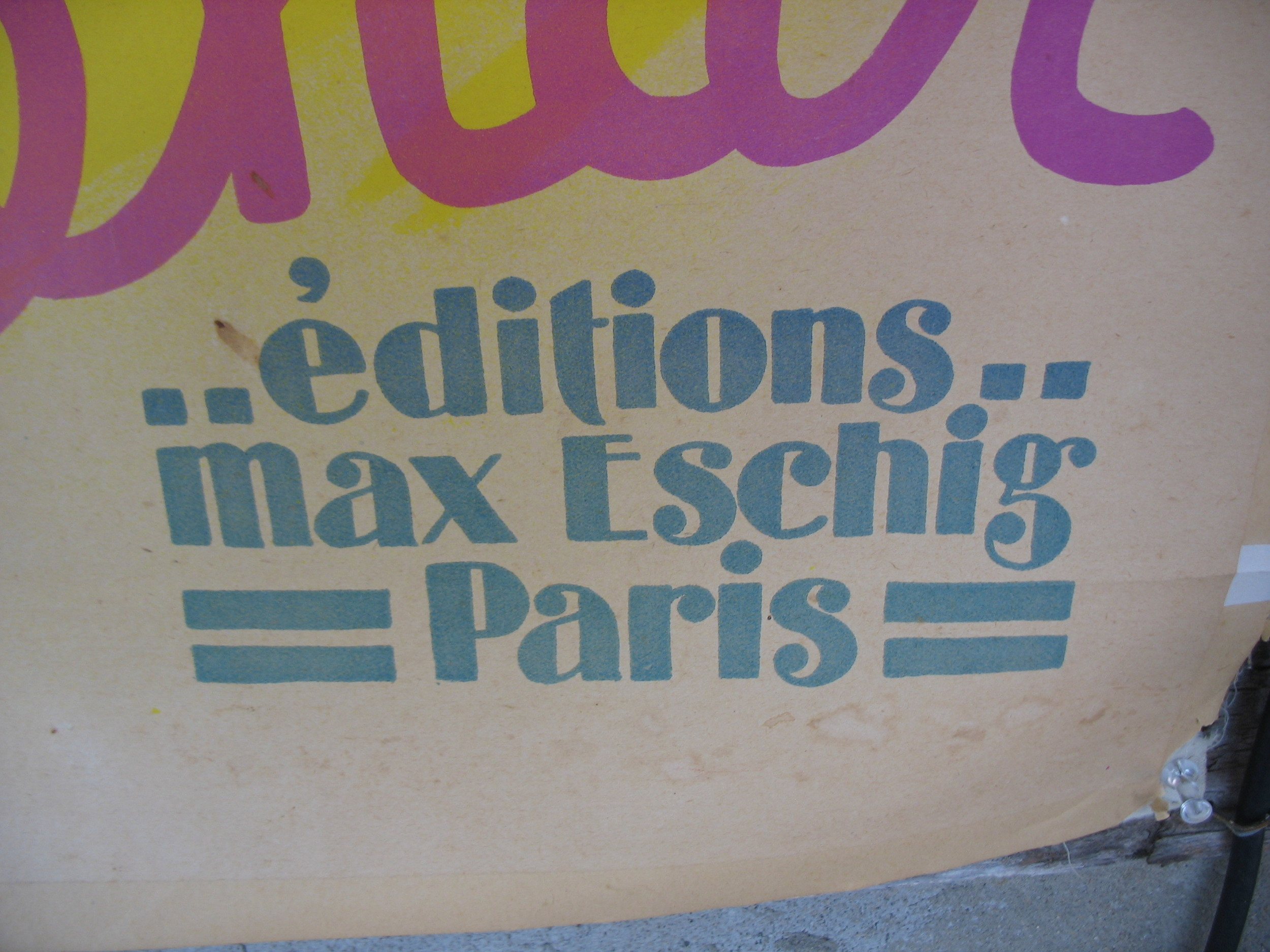 This gives the information of the edition which was my Max Eschig in Paris