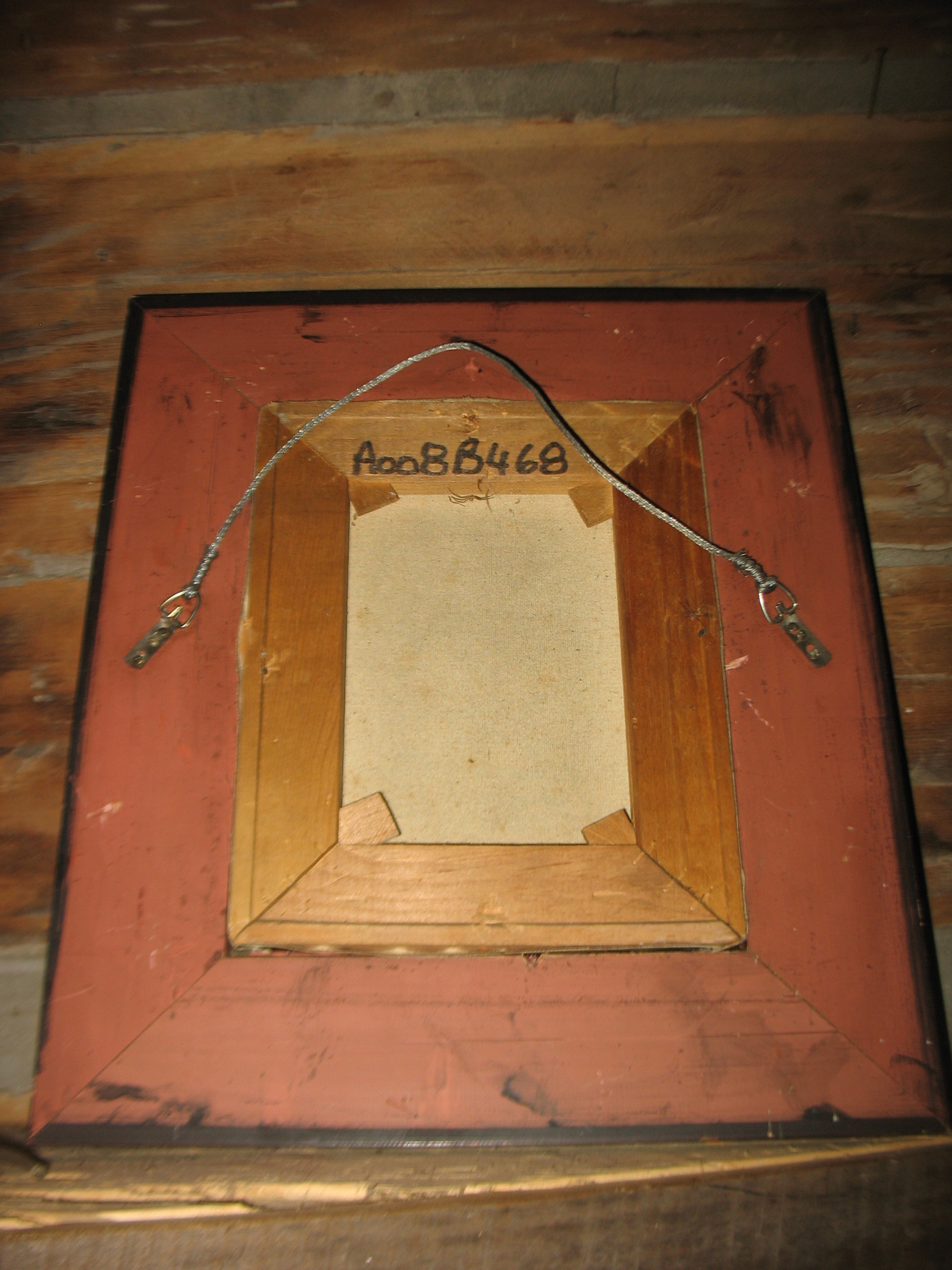 This shows the back of the frame.