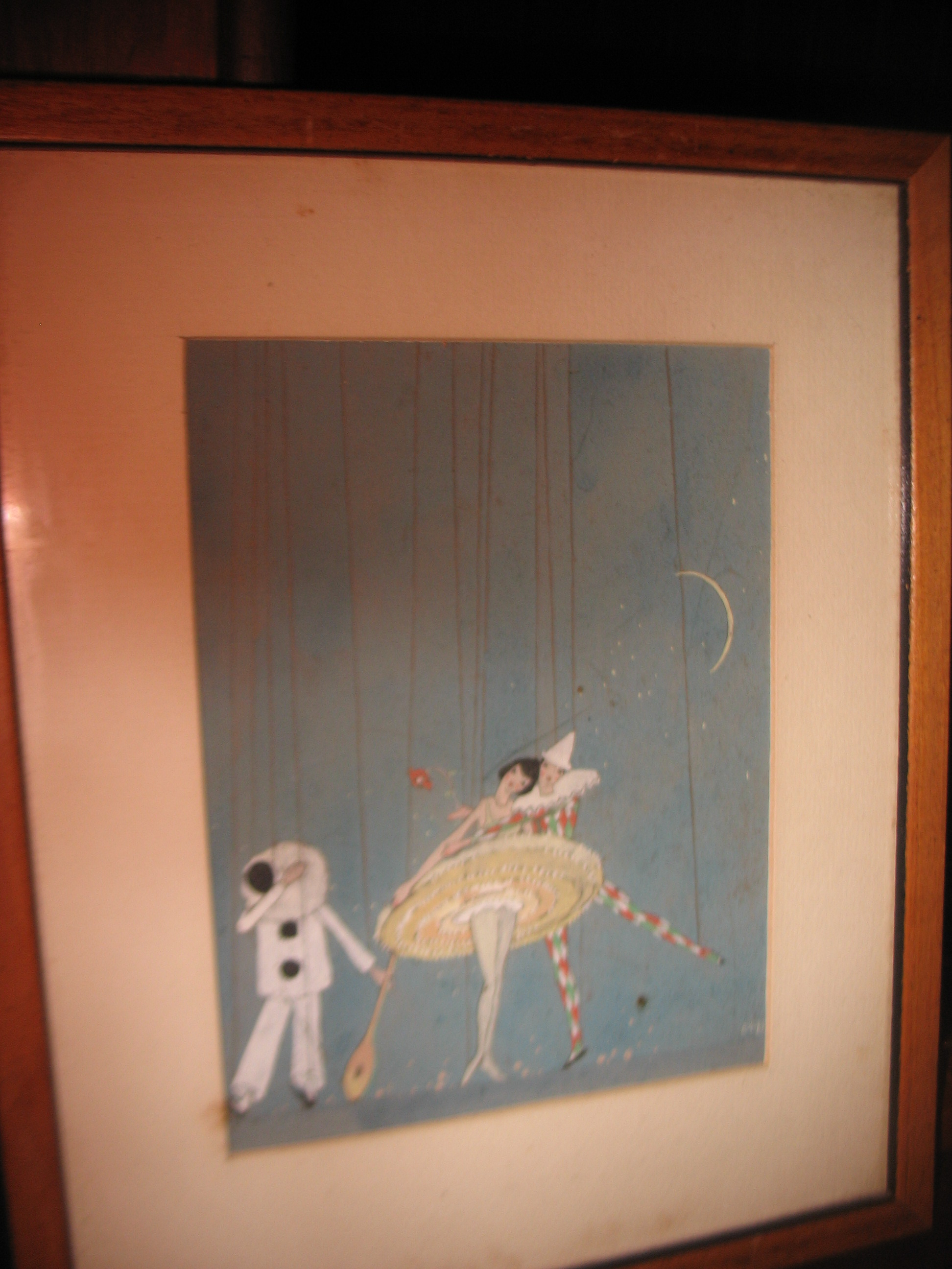 """This charming little watercolor by the artist Maurice Day was done in Damariscotta, Maine where Mr. Day was born in l892 and died in 1983 at the age of 90. I bought directly from the artist after a wonderful visit with him and have enjoyed it for many years. He is best known for creating """"Bambi"""" and many of the adorable characters in the classic movie by Walt Disney. It measures 9 inches X 11 inches and is in the original frame as I bought it from Mr. Day."""