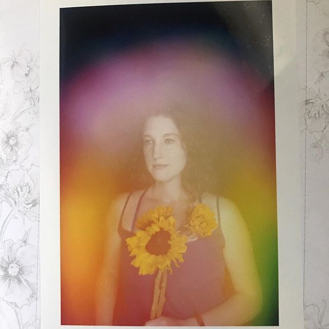 My aura was FULL of colors. Feelin' really bright! Was so impressed by @floraauraapothecary - you also get a recommended flower essence and a card going over your aura colors. #auraphoto #aura #iceatlanta #crafts #auraphotography #sunflower #floraaura