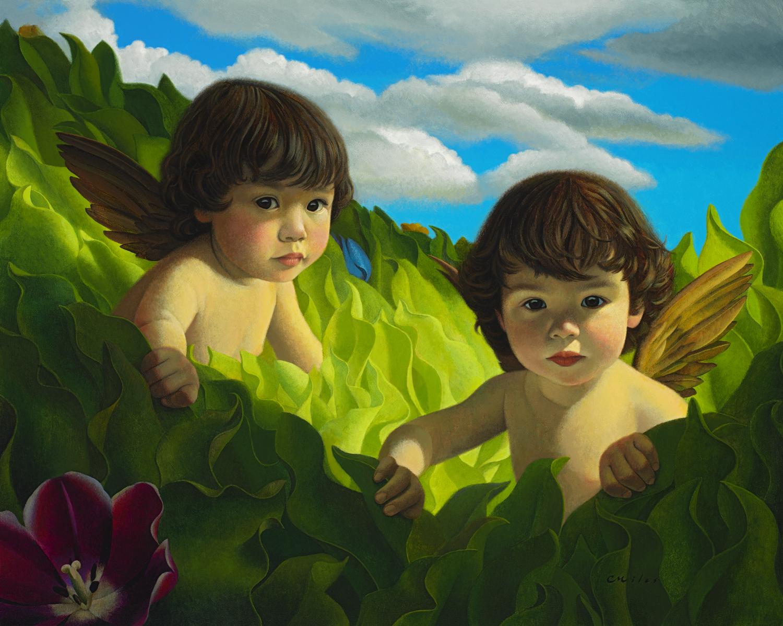 Little Angels, Acrylic on Panel, 24 x 30