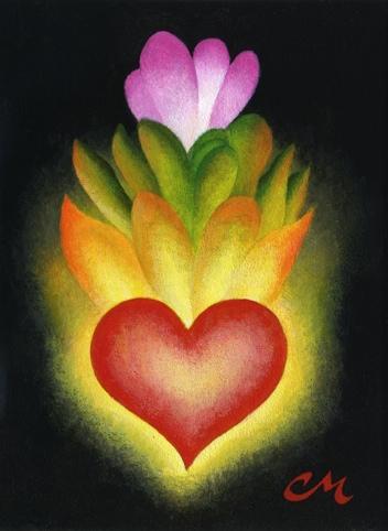 Spirit Flower, Acrylic on Panel, 6 x 8 inches