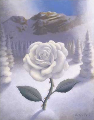 Winter Rose, Acrylic on Panel, 11 x 14 inches
