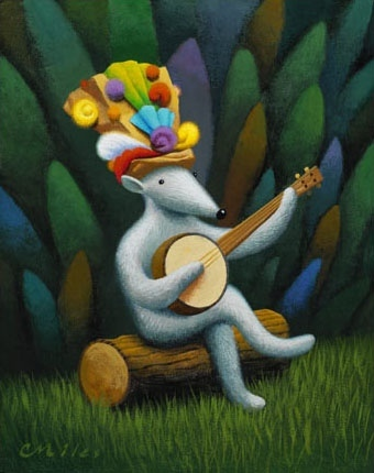 Musician 1, Acrylic on Panel, 8 x 10 inches