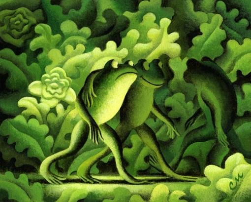 The Jealous Frog, Acrylic on Panel, 8 x 10 inches