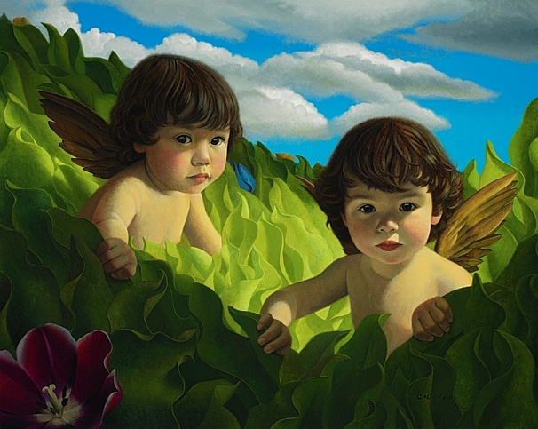 Little Angels, Acrylic on Panel, 24 x 30 inches