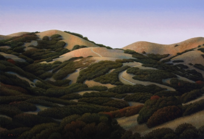 Foothills, Acrylic on Panel, 24 x 36 inches