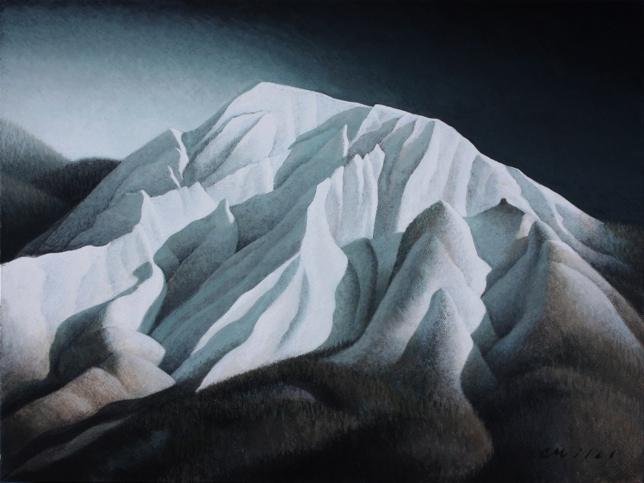 Olympus Glow, Acrylic on Panel, 12 x 16 inches