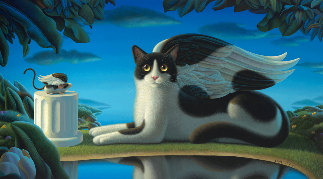 Cat & Mouse II, Acrylic on Panel, 25 x 45 inches