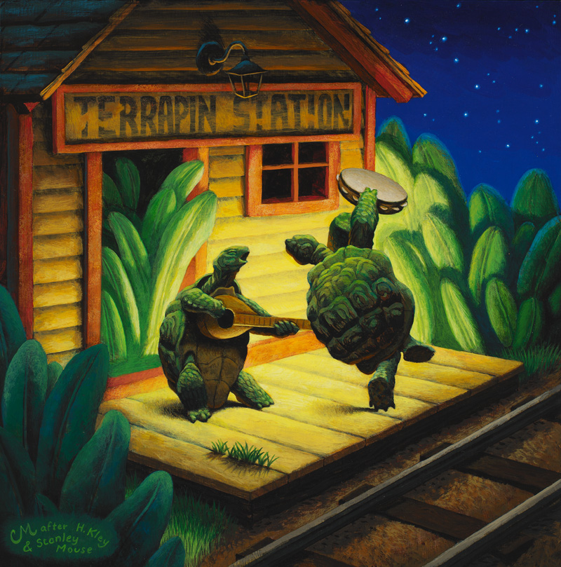 Terrapin Station, Acrylic on Panel, 12 x 12 inches