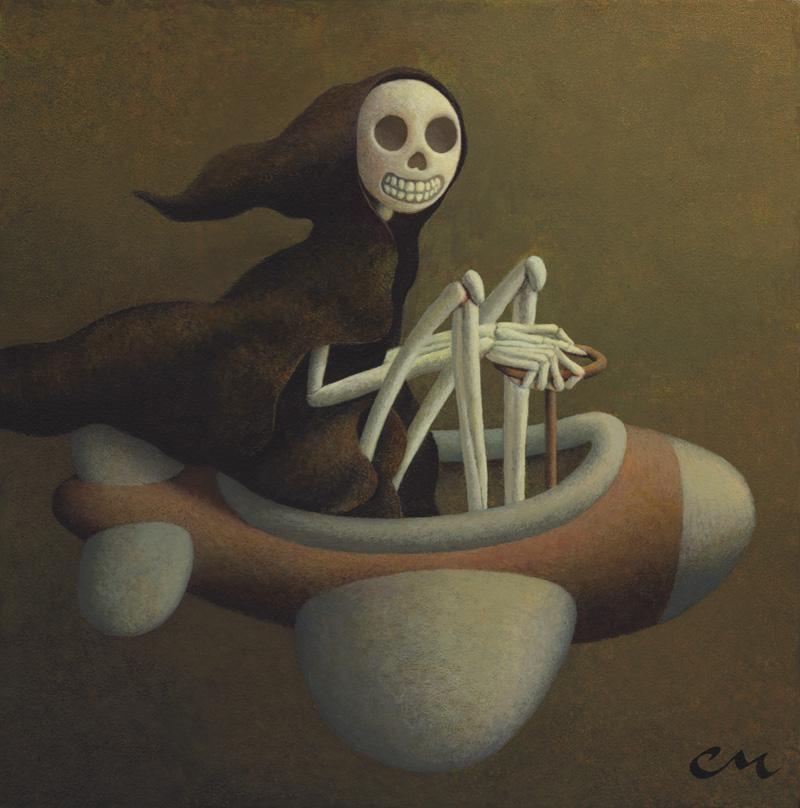 Joy Ride, Acrylic on Panel, 10 x 10 inches