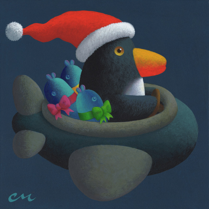 Holiday Cheer, Acrylic on Panel, 8 x 8 inches