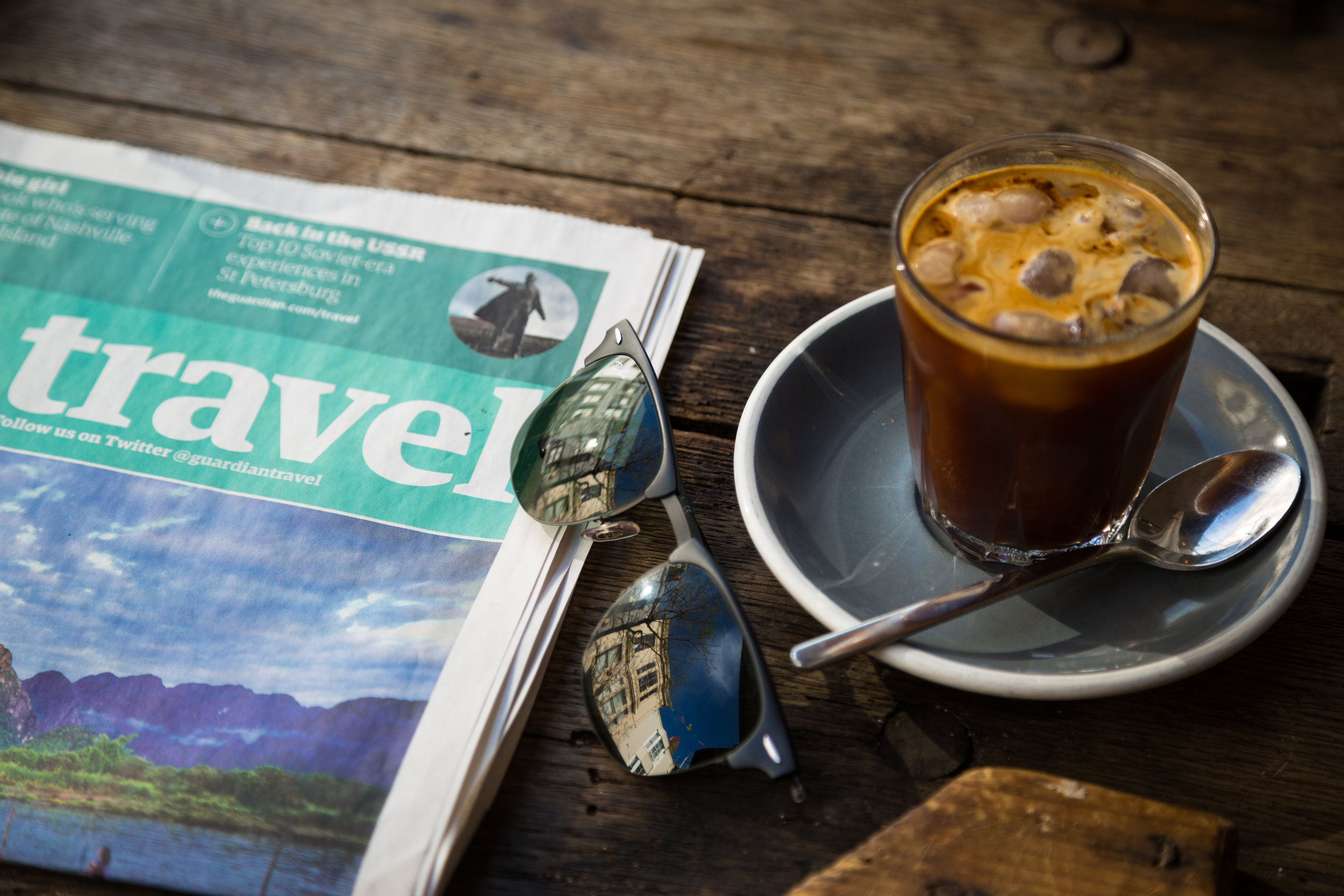 News paper and coffee