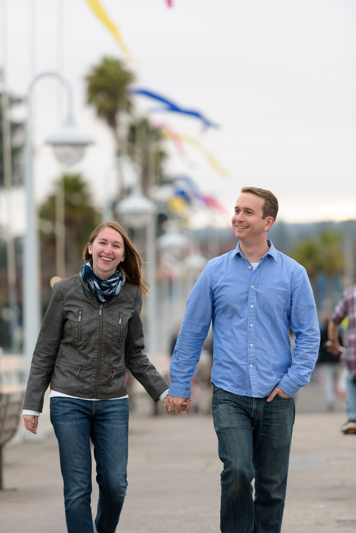 Santa Cruz engagement photos on the wharf