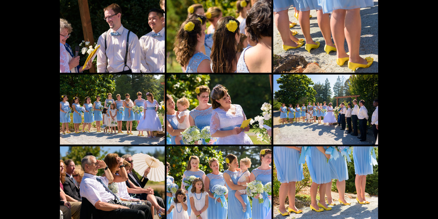 The Ceremony - Candids - Private Estate wedding in Sebastopol, CA - by Bay Area wedding photographer Chris Schmauch