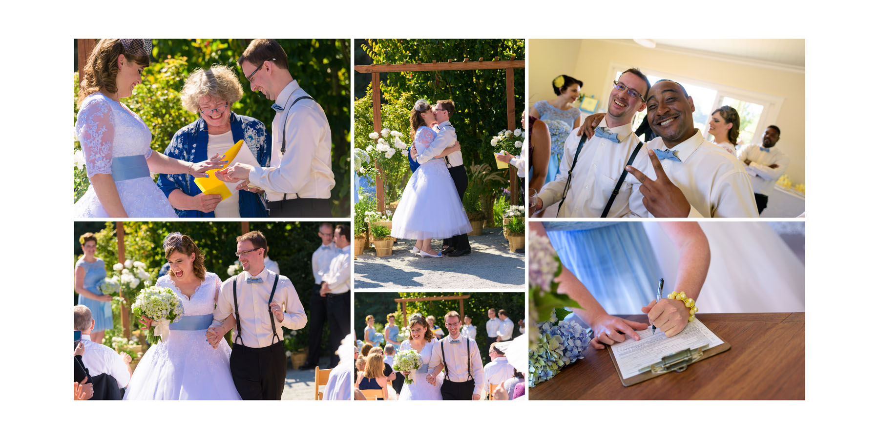 Tying the knot and signing the paperwork - Private Estate wedding in Sebastopol, CA - by Bay Area wedding photographer Chris Schmauch