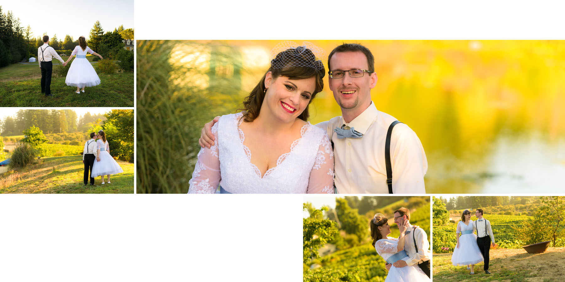Bride and groom formal portraits - Private Estate wedding in Sebastopol, CA - by Bay Area wedding photographer Chris Schmauch