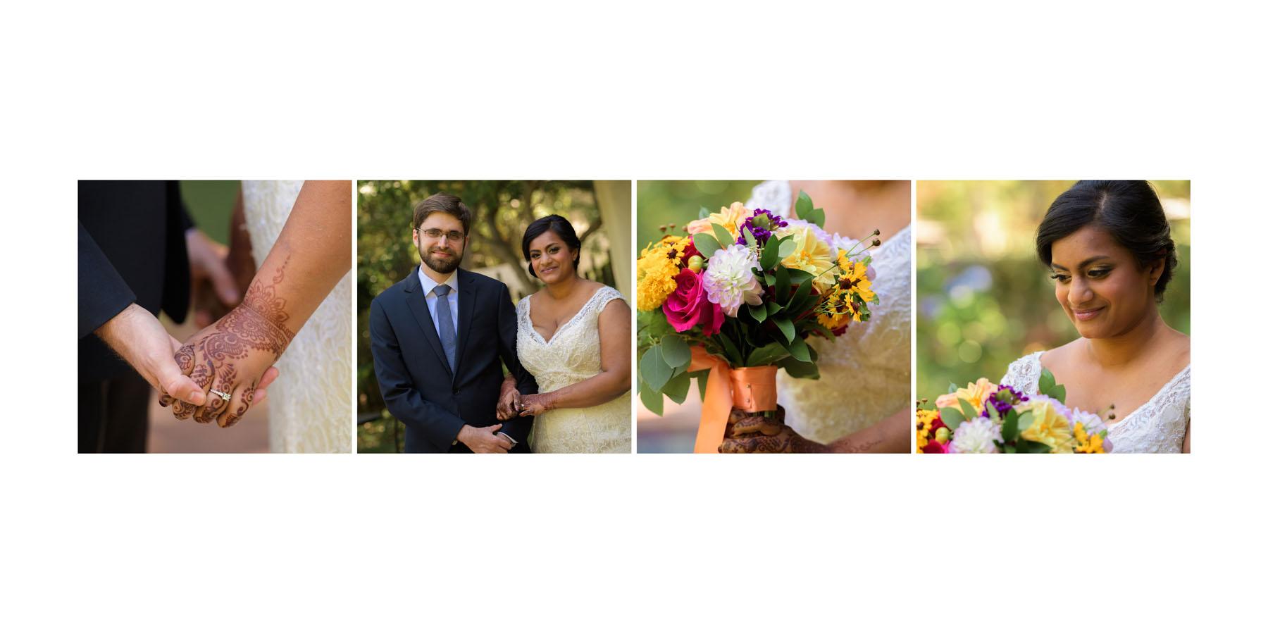 bride and groom –Allied Arts Guild –Menlo Park wedding photos –by Bay Area wedding photographer Chris Schmauch