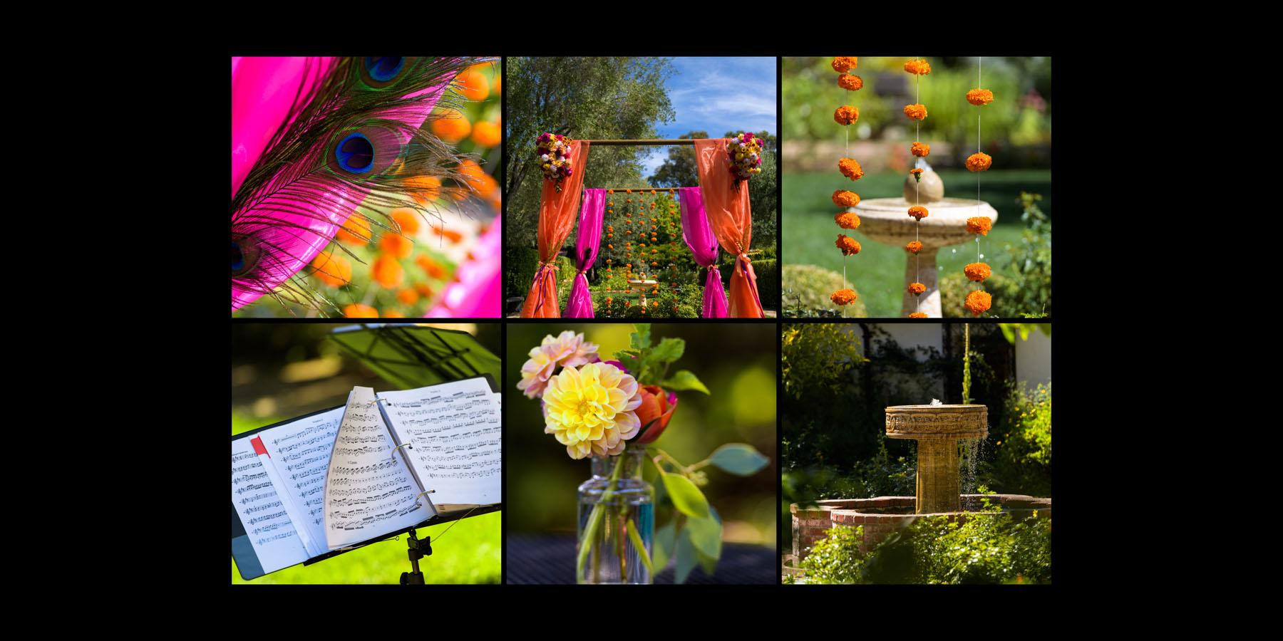 colorful, vivid wedding details –Allied Arts Guild –Menlo Park wedding photos –by Bay Area wedding photographer Chris Schmauch