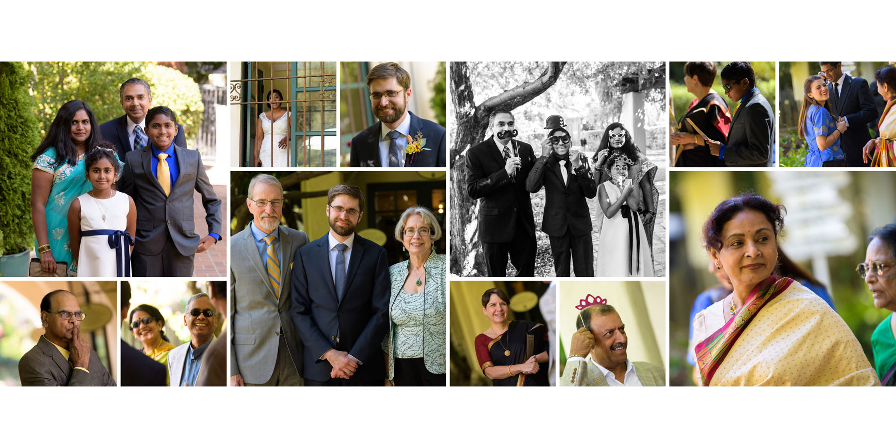 Candids of guests –Allied Arts Guild –Menlo Park wedding photos –by Bay Area wedding photographer Chris Schmauch